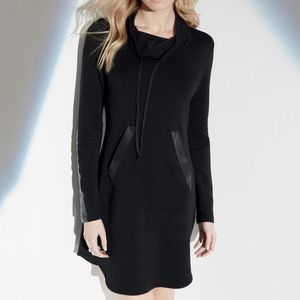 Fifteen Twenty LEATHER PATCH FLEECE DRESS
